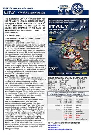 WSK-CIK news 14-05-3rd